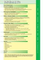 Inhaltsverzeichnis ÖKOJAGD 2016