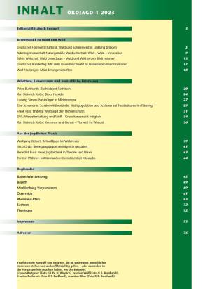 Inhaltsverzeichnis ÖKOJAGD 1-17