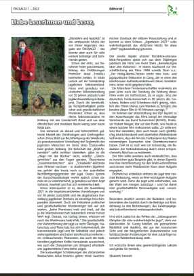 ÖKOJAGD Editorial Elisabeth Emmert