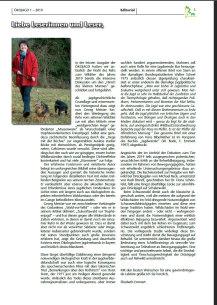 Editorial ÖKOJAGD Ausgabe 1 - 2019