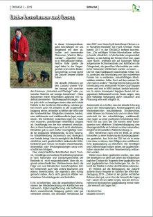 ÖKOJAGD Editorial E. Emmert Ausgabe 3 - 2019