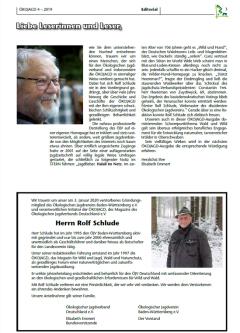 ÖKOJAGD Editorial E. Emmert Ausgabe 4 - 2019