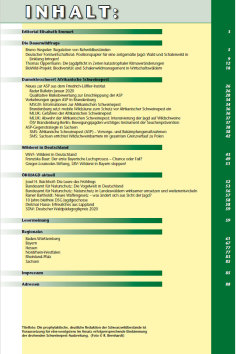 Inhaltsverzeichnis Ausgabe 1 - 2020