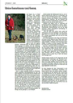 Editorial E. Emmert Ausgabe 1 - 2020