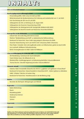 ÖKOJAGD Inhaltsverzeichnis Ausgabe 3 - 2020