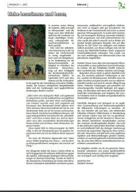 ÖKOJAGD Editorial Ausgabe 1 - 2021