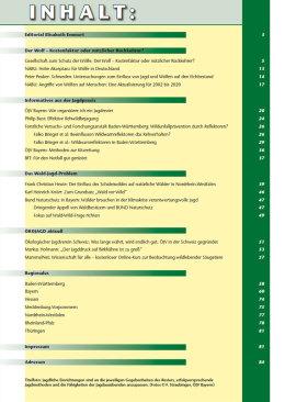 Inhaltsverzeichnis Ausgabe 2 - 2021